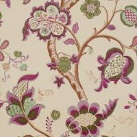Roslyn Wallpaper - Emerald/Damson