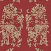 Sicilian Lions Wallpaper - Red/Gold