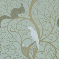 Squirrel and Dove Wallpaper - Eggshell/Ivory