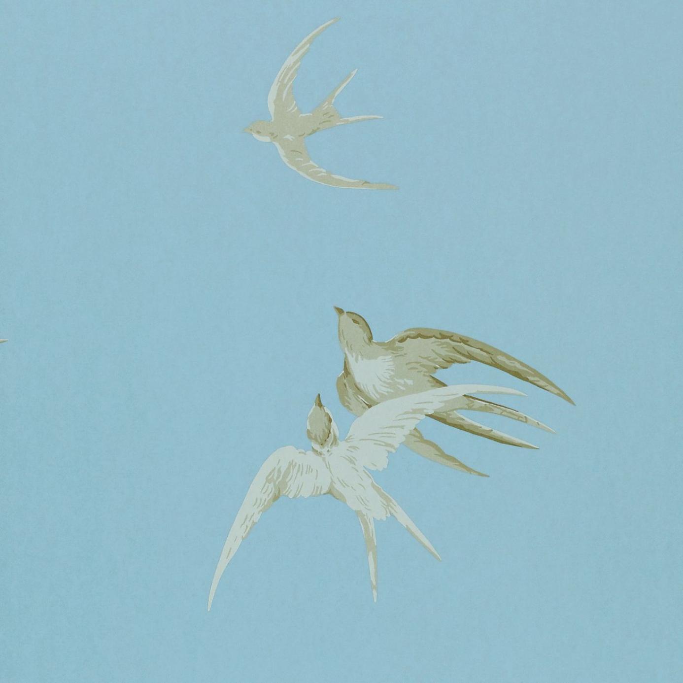 Swallows Wallpaper Wedgewood Dviwsw103 Sanderson