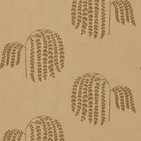Bay Willow Wallpaper - Gold/Charcoal