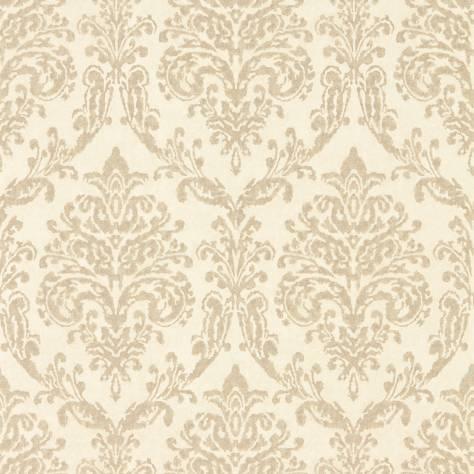 Riverside Damask Wallpaper Cream Gold 216288 Sanderson