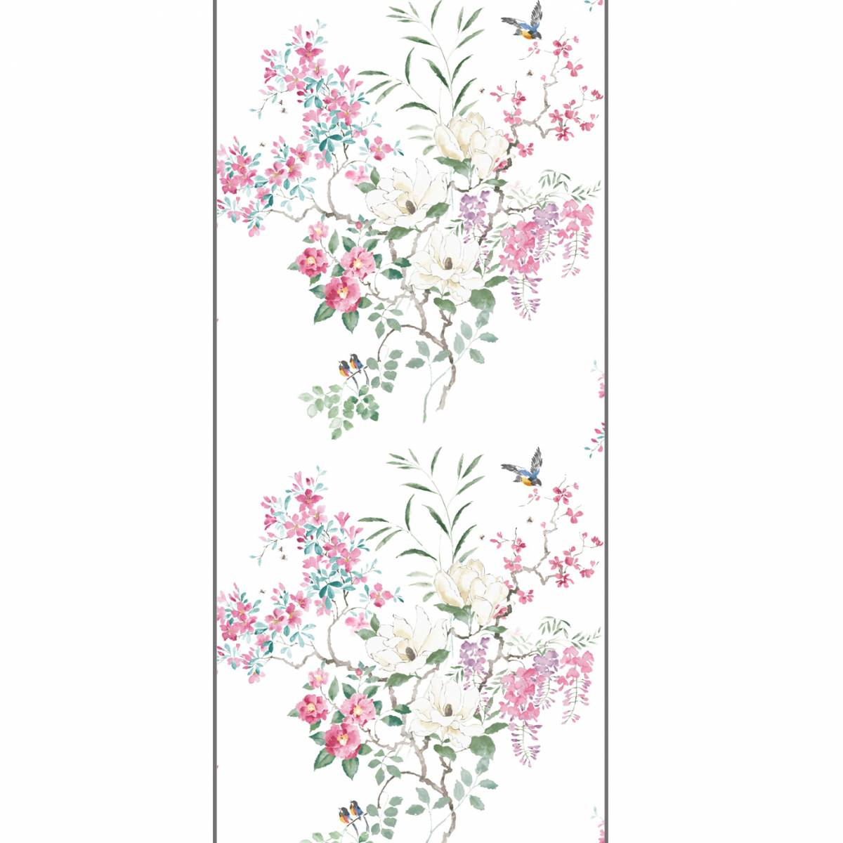Sanderson Waterperry Wallpapers Magnolia & Blossom Wallpaper - Blossom/Leaf PANEL A - 216305. Loading zoom