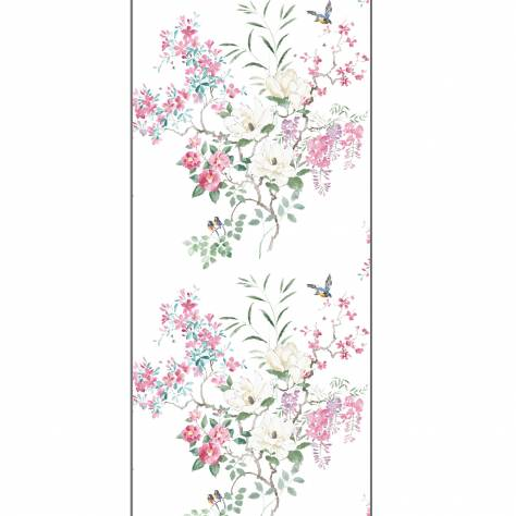 Sanderson Waterperry Wallpapers Magnolia & Blossom Wallpaper - Blossom/Leaf PANEL B - 216306