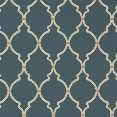 Sanderson Art of the Garden Wallpapers Empire Trellis Wallpaper - Indigo/Linen - 216338
