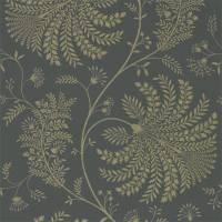Mapperton Wallpaper - Graphite/Gilver