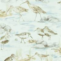 Estuary Birds Wallpaper - Blue/Grey