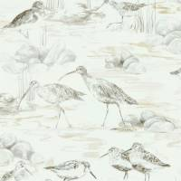 Estuary Birds Wallpaper - Chalk/Sepia