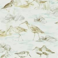 Estuary Birds Wallpaper - Mist/Ivory