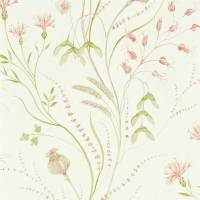Summer Harvest Wallpaper - Claret/Olive