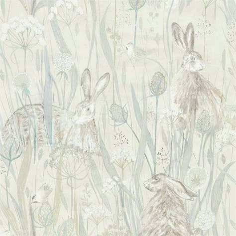 Sanderson Embleton Bay Wallpapers Dune Hares Wallpaper - Mist/Pebble - 216518