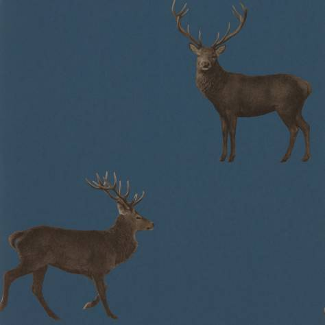 evesham deer wallpaper indigo 216620 sanderson elysian