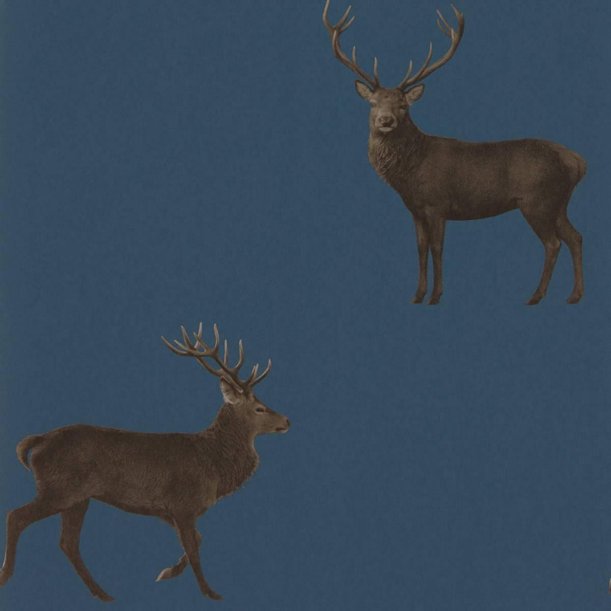 Sanderson Elysian Wallpapers Evesham Deer Wallpaper
