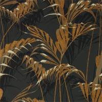 Palm House Wallpaper - Charcoal / Gold