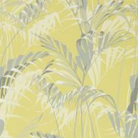 Palm House Wallpaper - Chartreuse / Grey