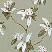 Oleander Wallpaper - Pewter/Silver