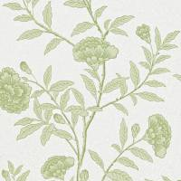 Chinese Peony Wallpaper - Pale Olive