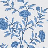 Chinese Peony Wallpaper - Blue