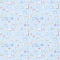 Alphabet Zoo Wallpaper - Powder Blue/Multi