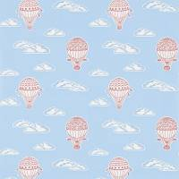 Balloons Wallpaper - Sky Blue/Red