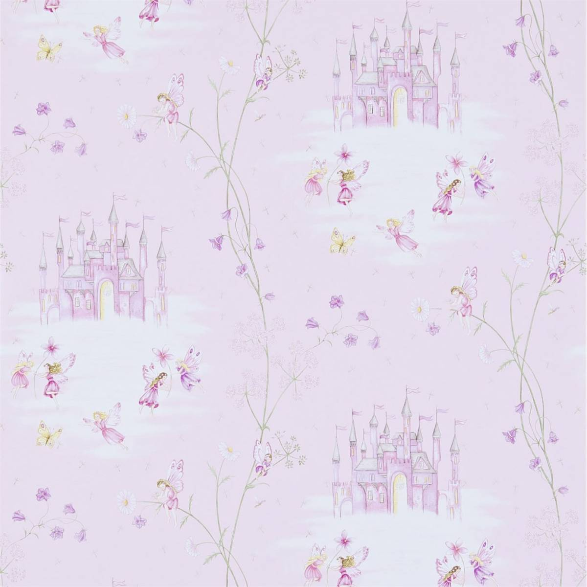 Sanderson Abracazoo Fabrics Wallpapers Fairy Castle Wallpaper