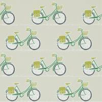 Cykel Wallpaper - Ivy/Apple/Slate