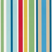 Jelly Tot Stripe Wallpaper - Pimento/Grass/Denim
