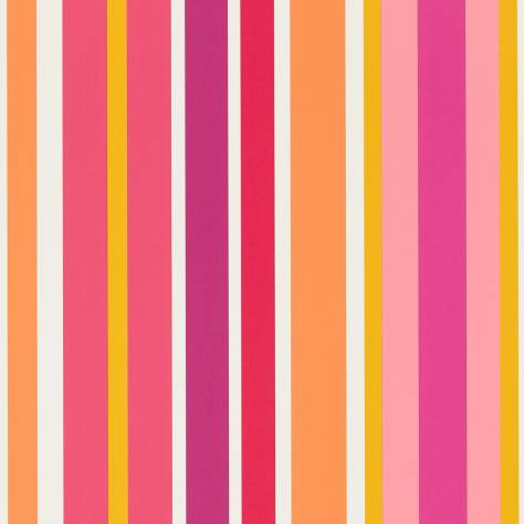 Scion Guess Who? Wallpapers Jelly Tot Stripe Wallpaper - Raspberry/Blancmange - 111265