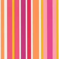 Jelly Tot Stripe Wallpaper - Raspberry/Blancmange
