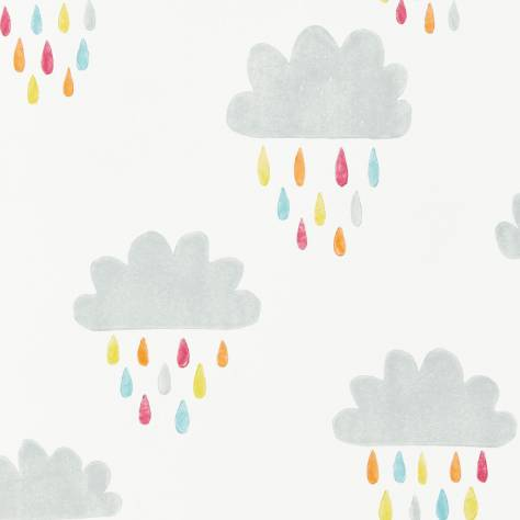 Scion Guess Who? Wallpapers April Showers Wallpaper - Citrus/Lagoon/Poppy - 111269