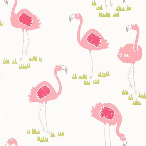 Scion Guess Who? Wallpapers Felicity Flamingo Wallpaper - Blancmange/Chalk - 111277