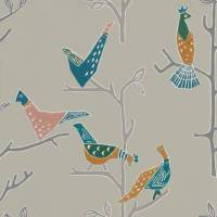 Passaro Wallpaper - Ginger/Teal