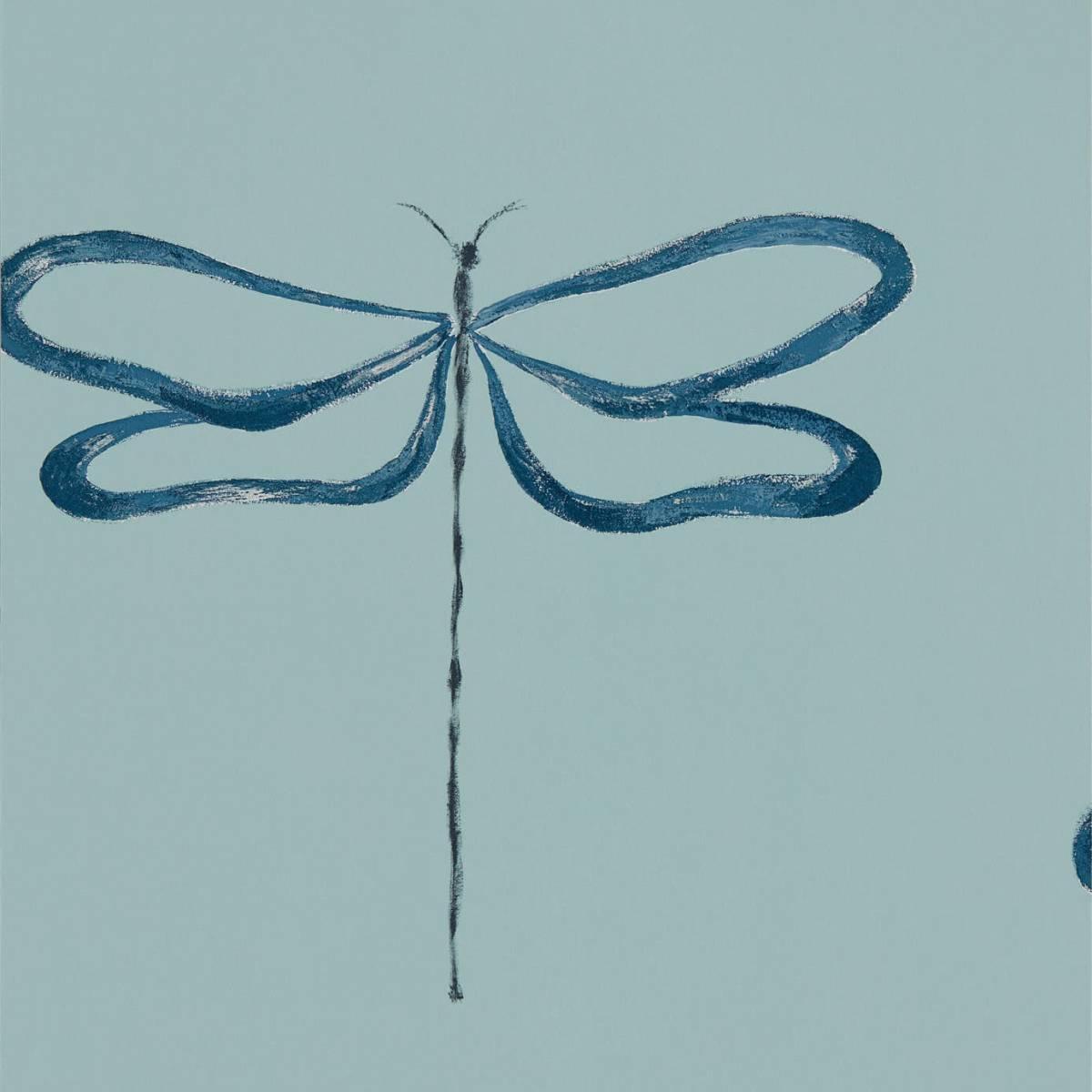 Dragonfly Wallpaper - Marine (111931) - Scion Japandi ...