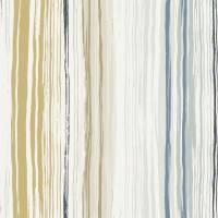 Zing Wallpaper - Denim/Ochre/Slate