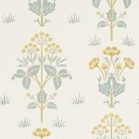 Meadow Sweet Wallpaper - Gold/Slate