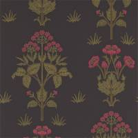 Meadow Sweet Wallpaper - Charcoal/Rose