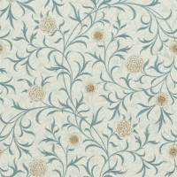 Scroll Wallpaper - Loden/Slate