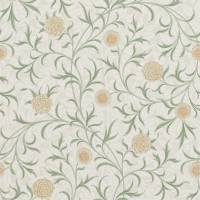 Scroll Wallpaper - Thyme/Pear