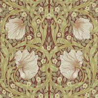 Pimpernel Wallpaper - Brick/Olive