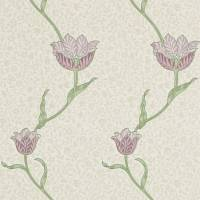 Garden Tulip Wallpaper - Artichoke/Heather