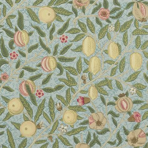 William Morris & Co Archive Wallpapers Fruit Wallpaper - Slate/Thyme - 210396