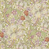 Golden Lily Wallpaper - Olive/Russet