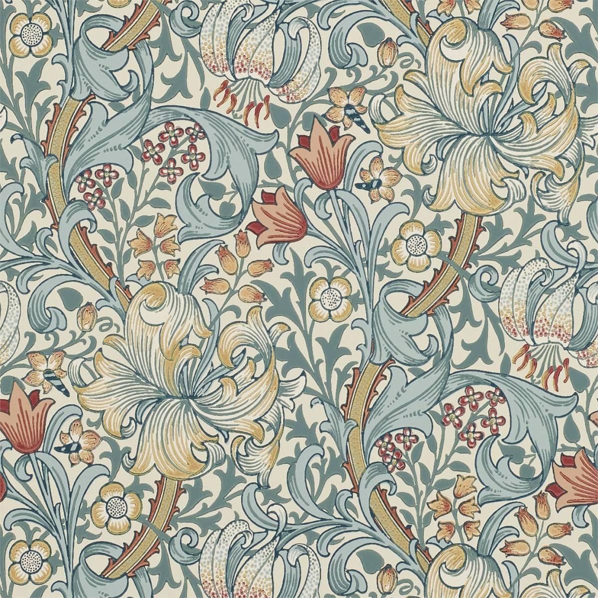 golden lily wallpaper slate manilla 210401 william