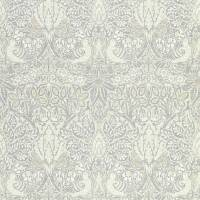 Pure Dove & Rose Wallpaper - Cloud Grey