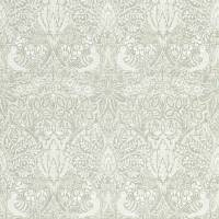 Pure Dove & Rose Wallpaper - Grey Blue