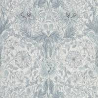 Pure Honeysuckle & Tulip Wallpaper - Cloud Grey