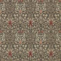 Snakeshead Wallpaper - Charcoal / Spice
