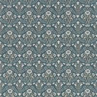 Morris Bellflower Wallpaper - Indigo / Linen