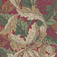 Acanthus Wallpaper - Madder / Thyme