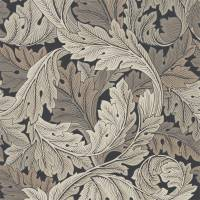 Acanthus Wallpaper - Charcoal / Grey